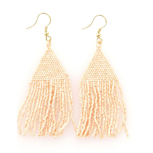Blush Luxe Petite Fringe Earring