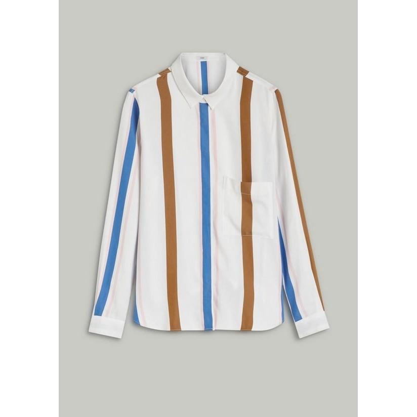 Striped Shirt Blouse (Multi)