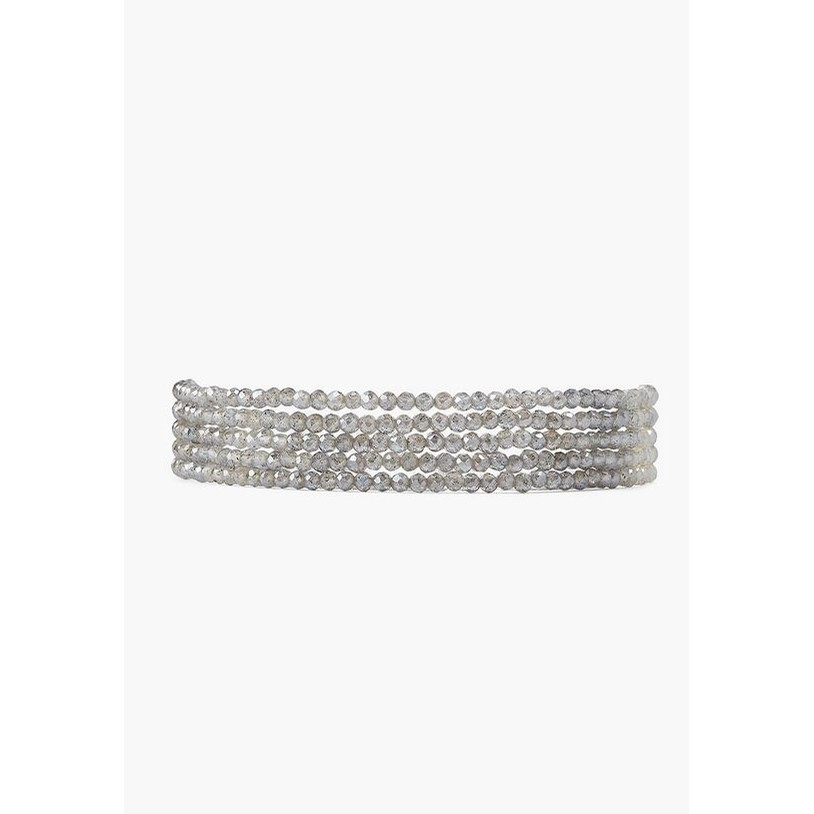 Mystic Labradorite Naked Wrap Bracelet (Labradorite)