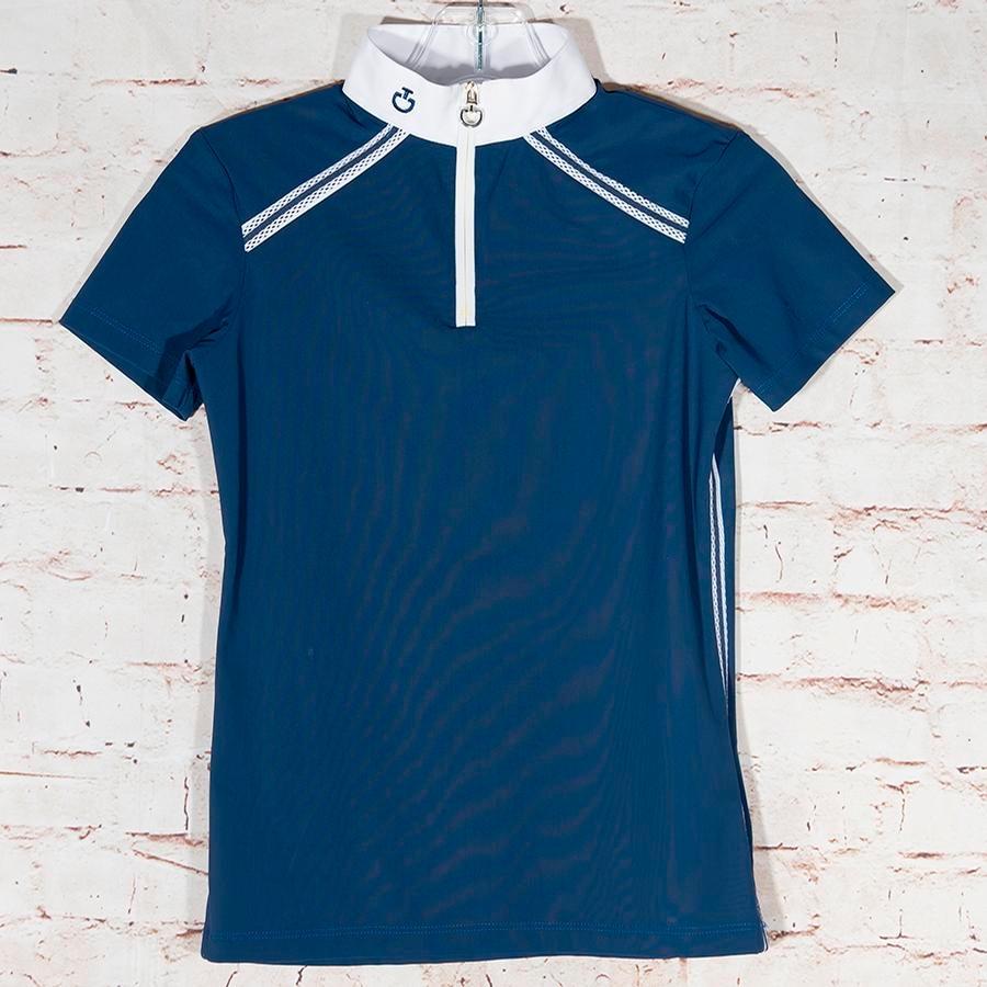 Girls Short Sleeve 1/4 Zip Schooling Shirt Size 14
