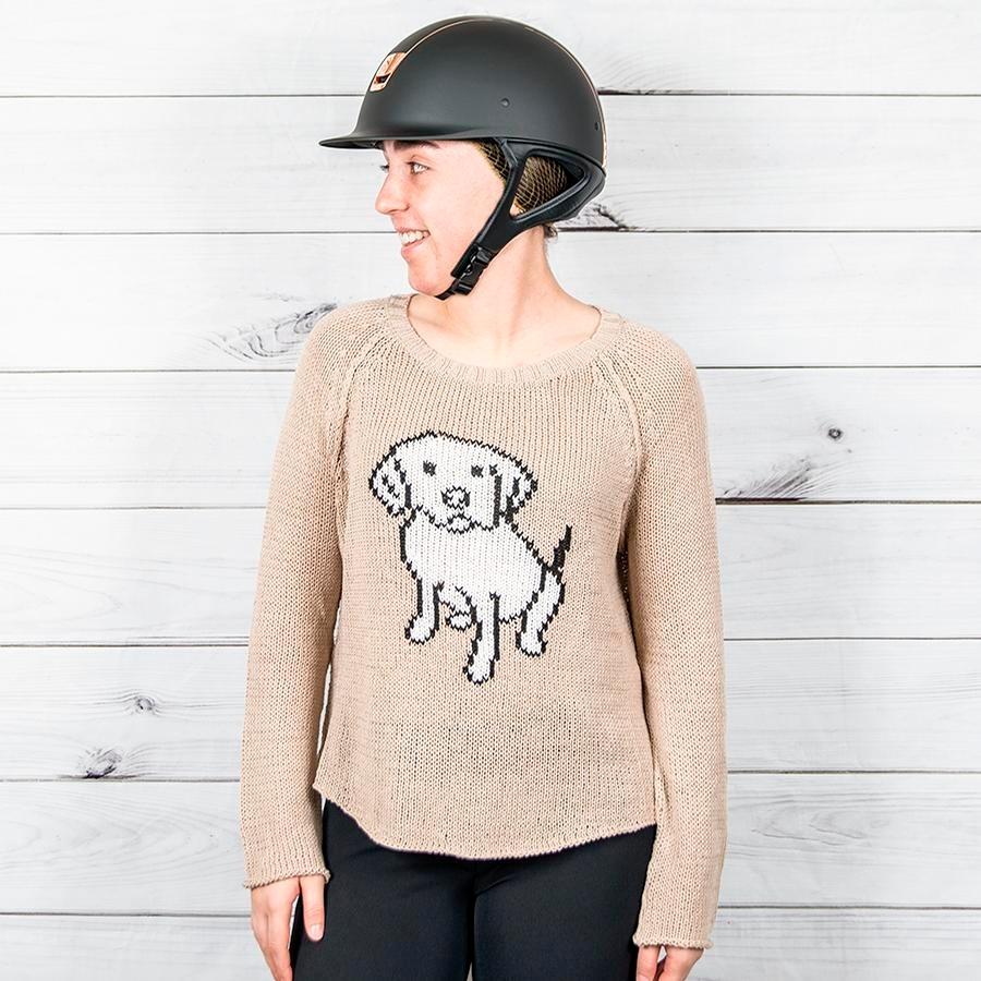 Ladies Dog Days Cotton Crewneck Sweater (Beach Road)