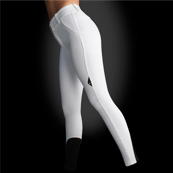 Ladies X Shape Knee Patch Breech (White) STORE STOCK