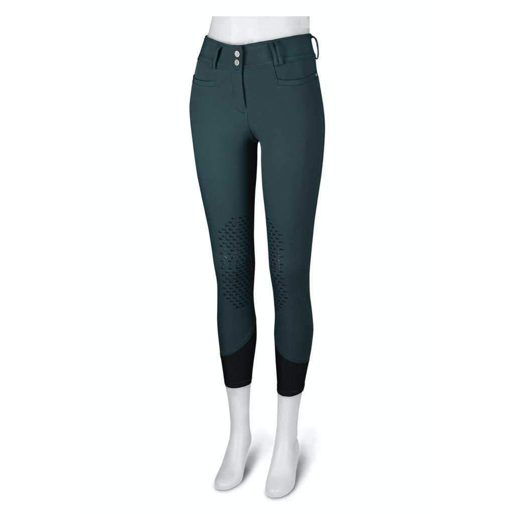 Ladies Harper Low Rise Knee Patch Breech (Green Gables)