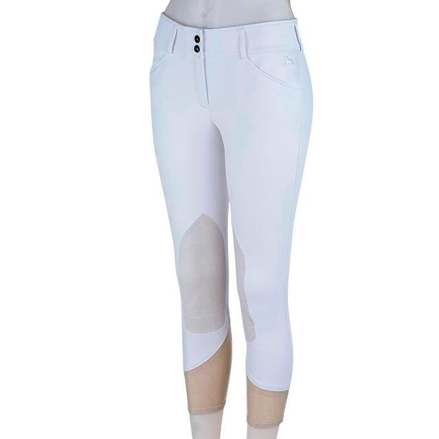 Ladies Gulf Low Rise Knee Patch Breech (White)