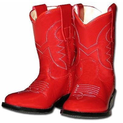Kids Cowboy Boots (Red)