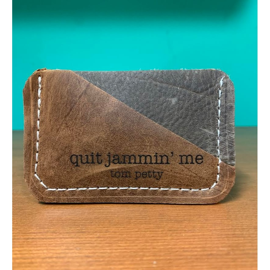Small Card Holder with Tom Petty Quote