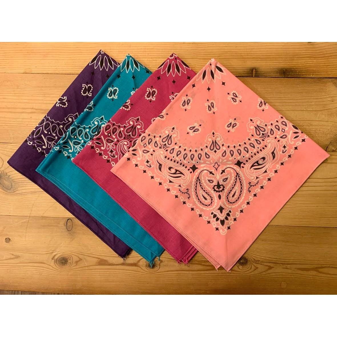 Cotton Bandana Scarf (Mulitple Colors)
