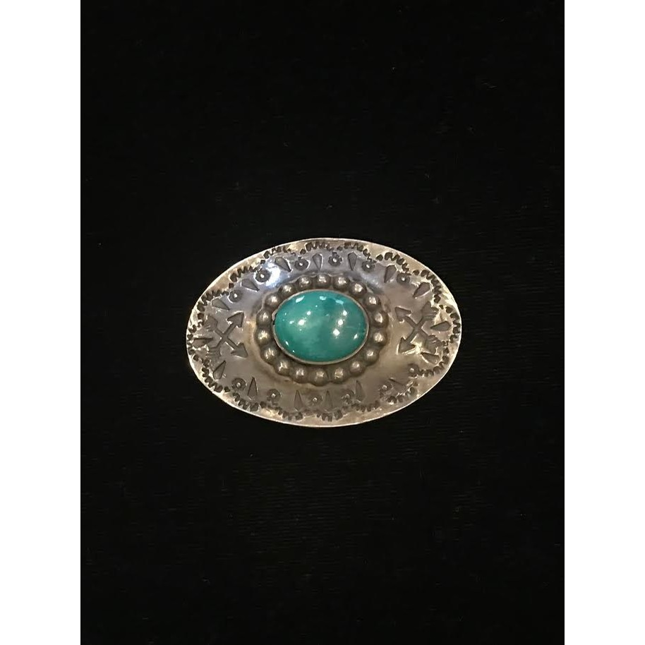 Vintage Pin with Turquoise