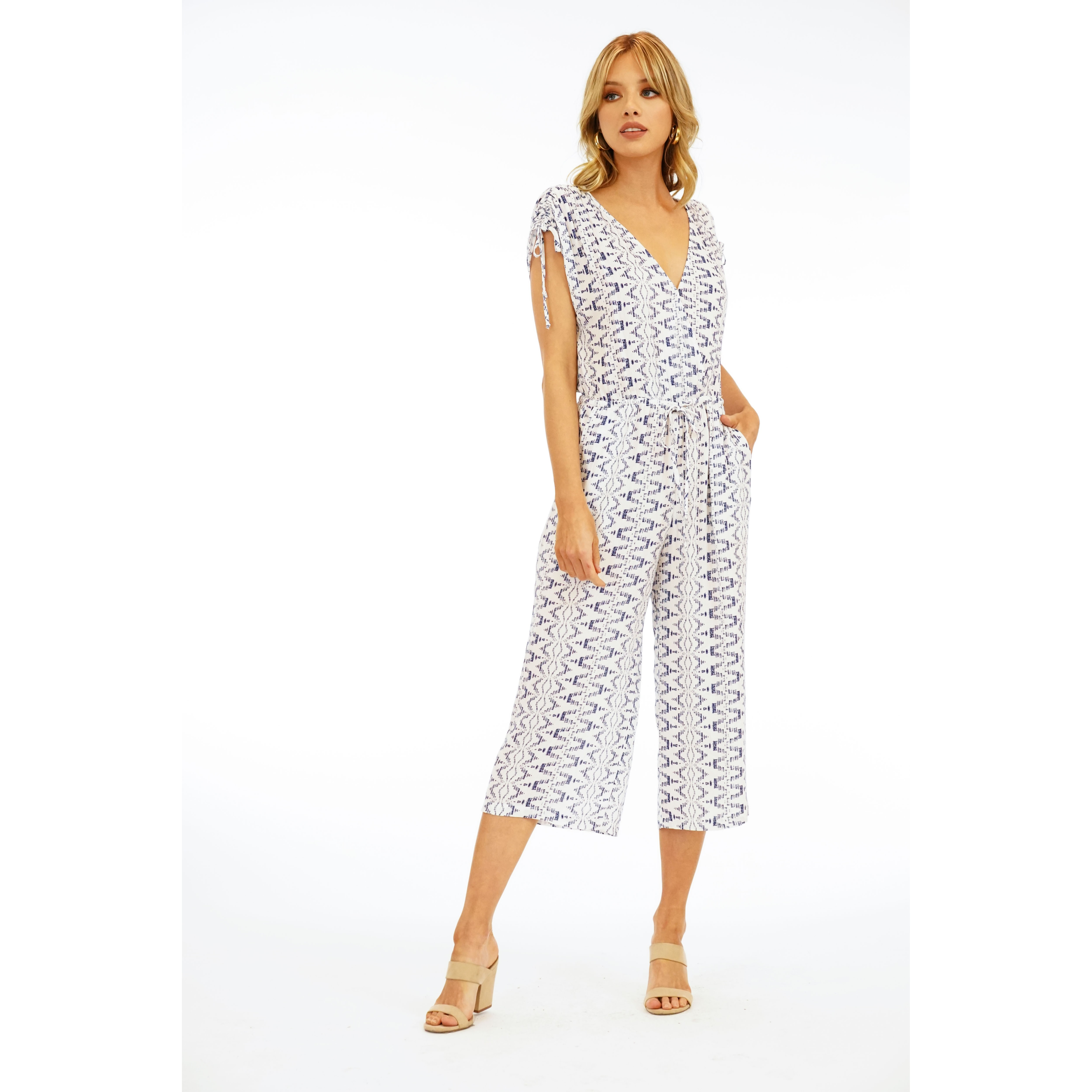 Culotte Woven Jumpsuit (Angelina)