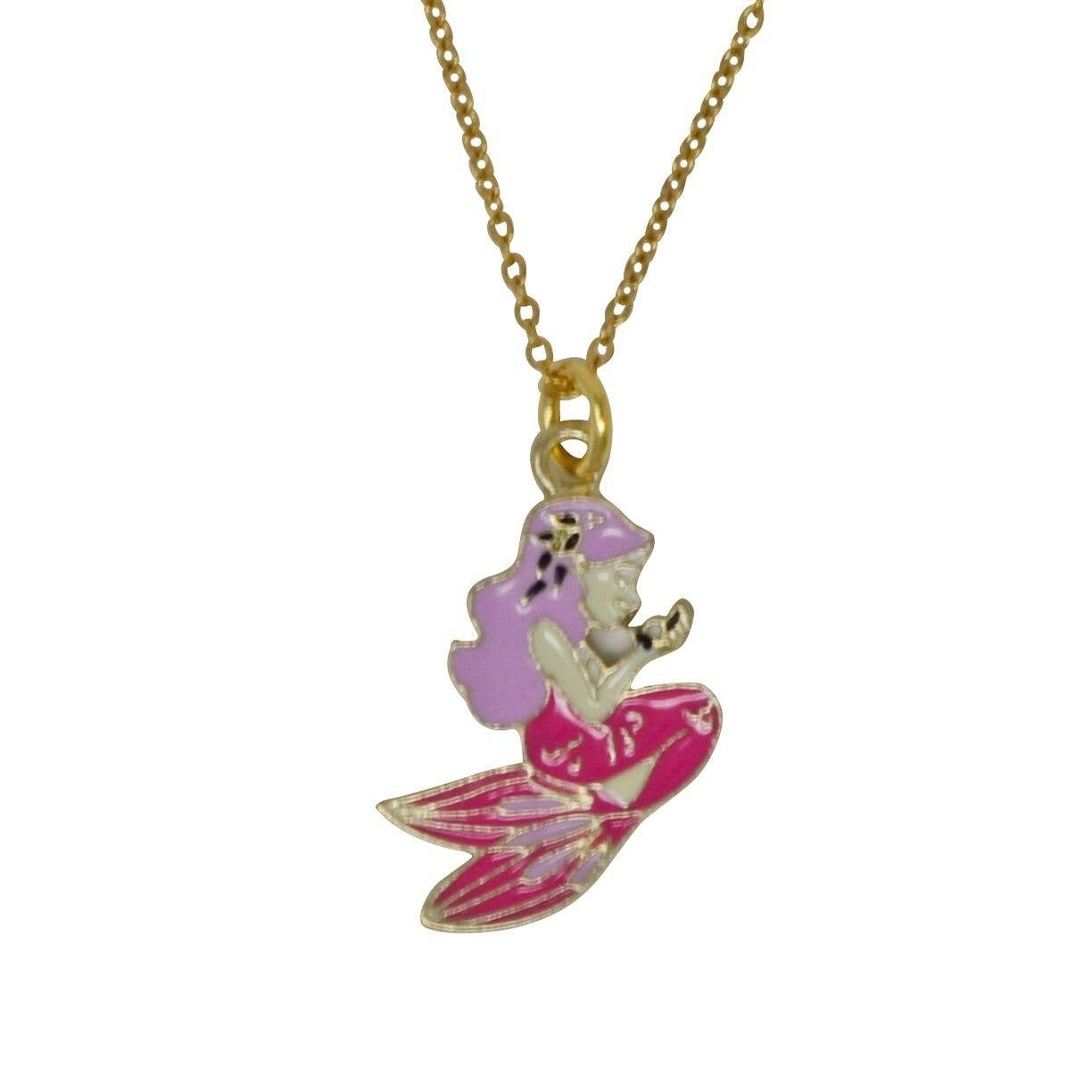 Little Pink Mermaid Necklace