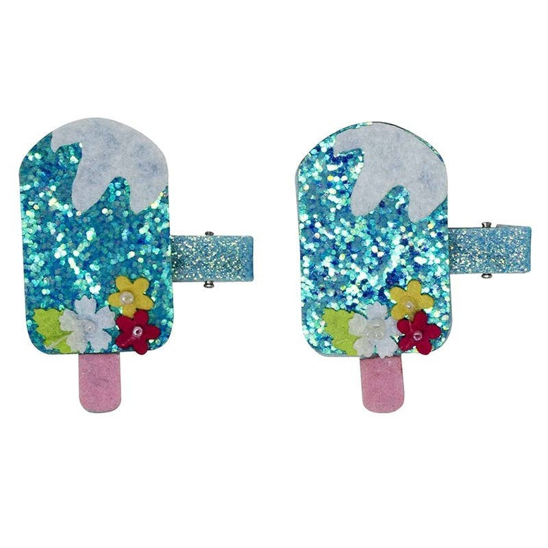 Hair Clips (Blue Popsicle)