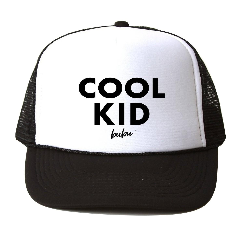 Kids Trucker Hat Cool Kid (Black/White)