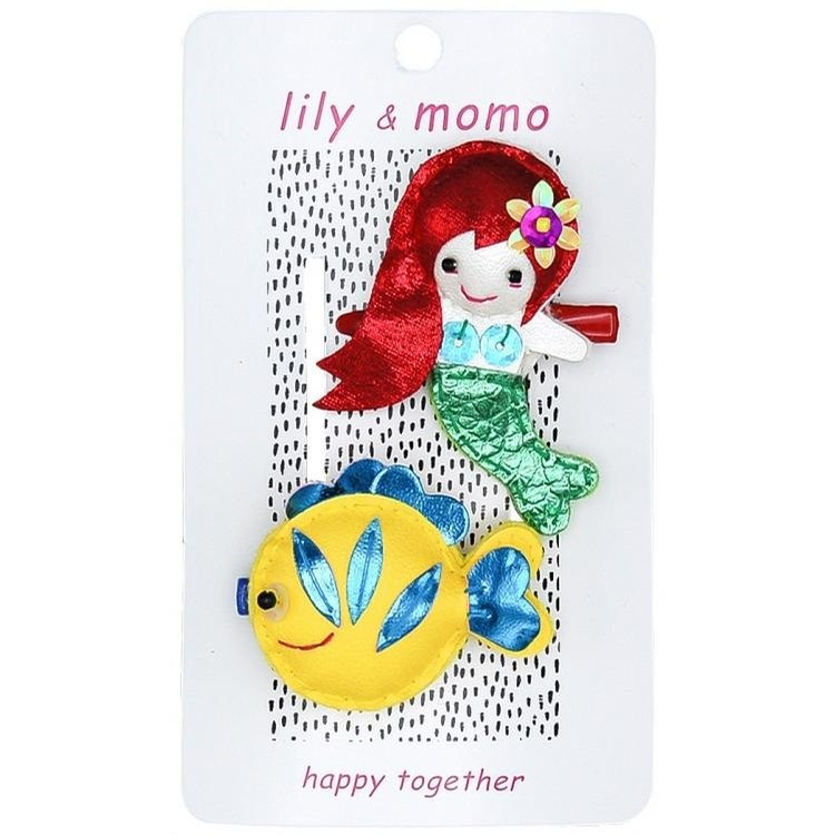 Lily and Momo Mermaid and Fishie Hair Clips