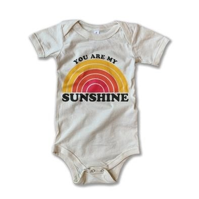 You Are My Sunshine Onesie (Heathered Ivory)