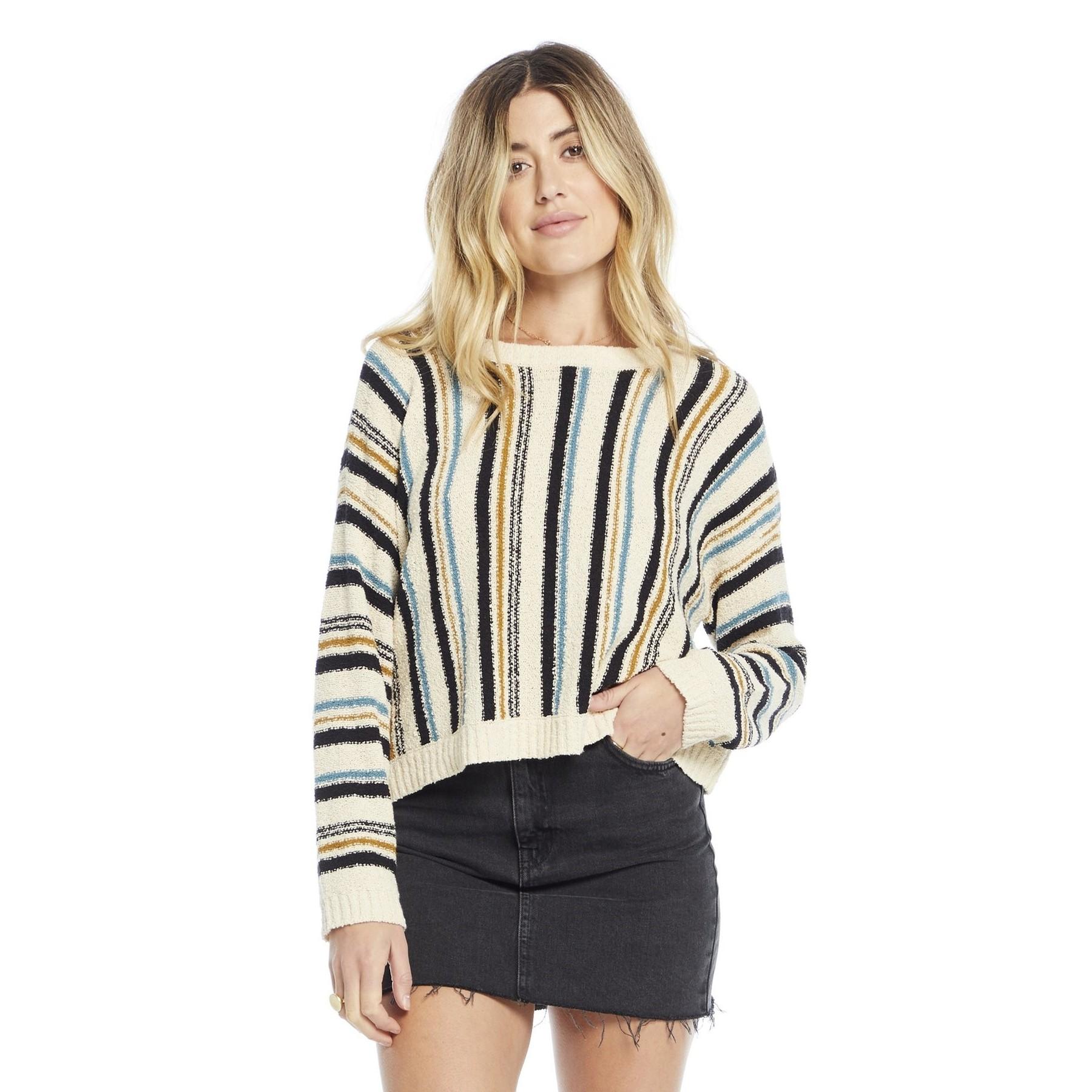 Autumn Sweater (Vanilla Stripe)
