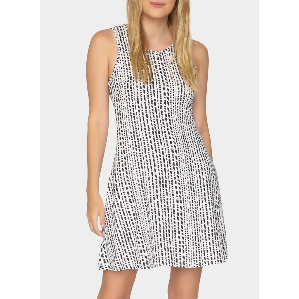Acadia Dress (Dash Stripe)