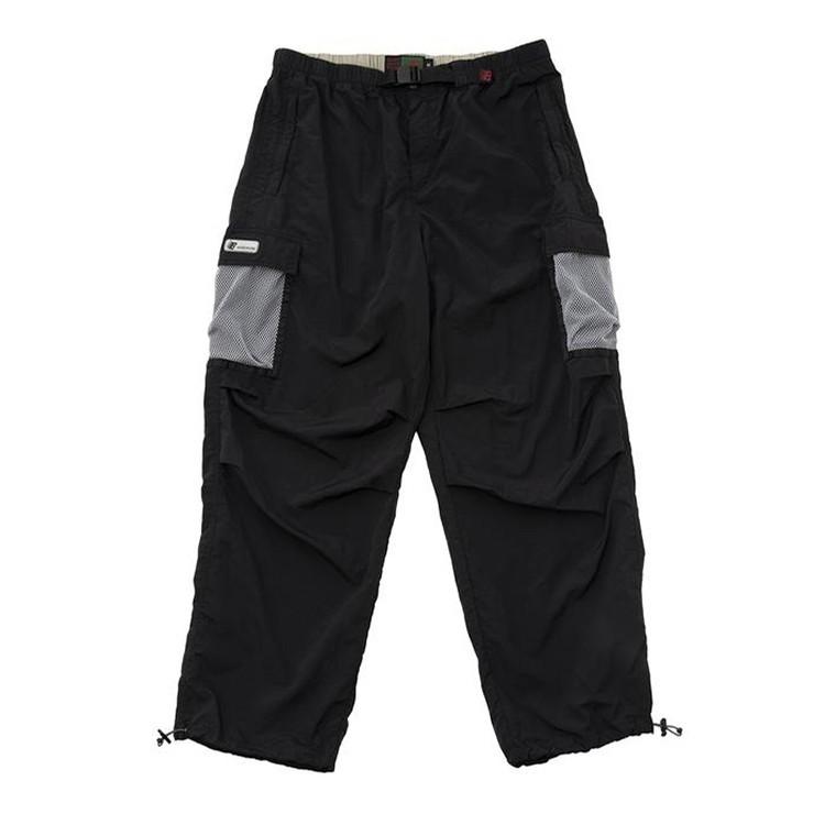 Mesh Pocket Cargo Pants (Black)