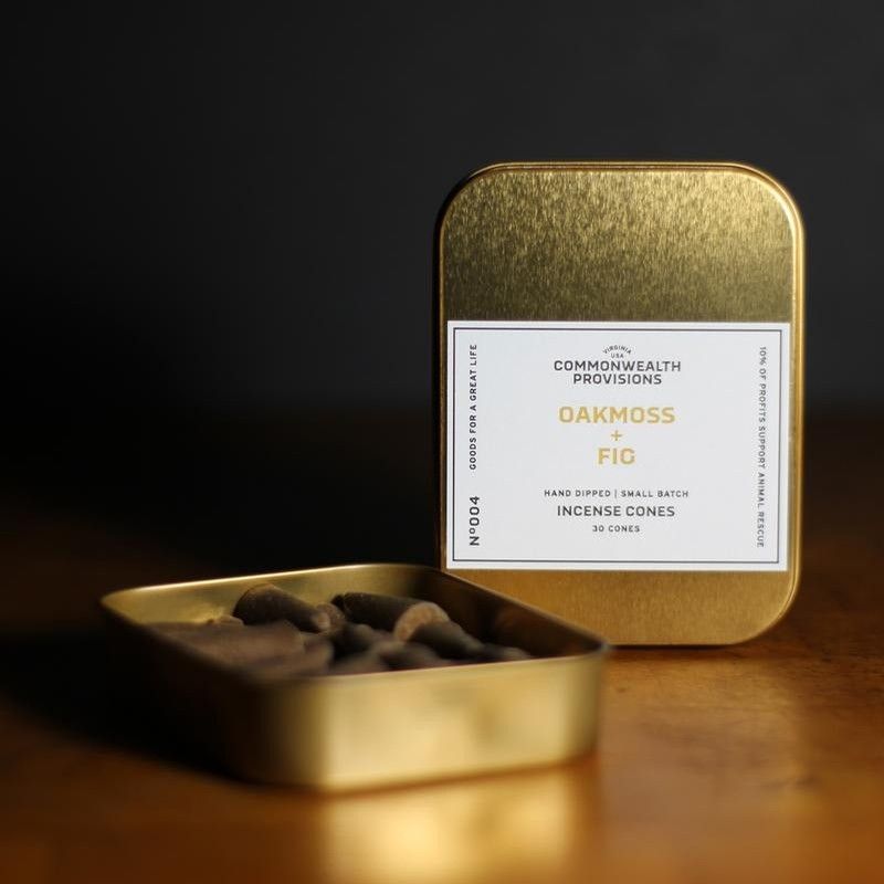 Commonwealth Provisions Oakmoss + Fig Incense Cones