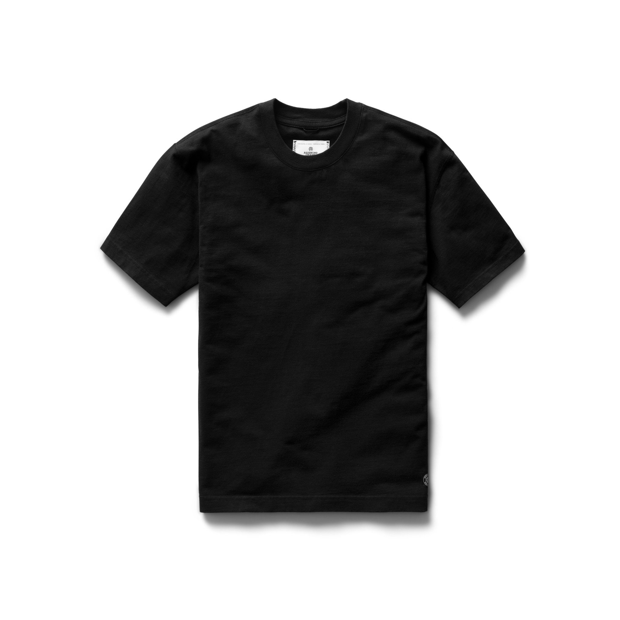 Midweight Jersey Relaxed T-Shirt: Black