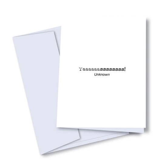 Yasssss! Card