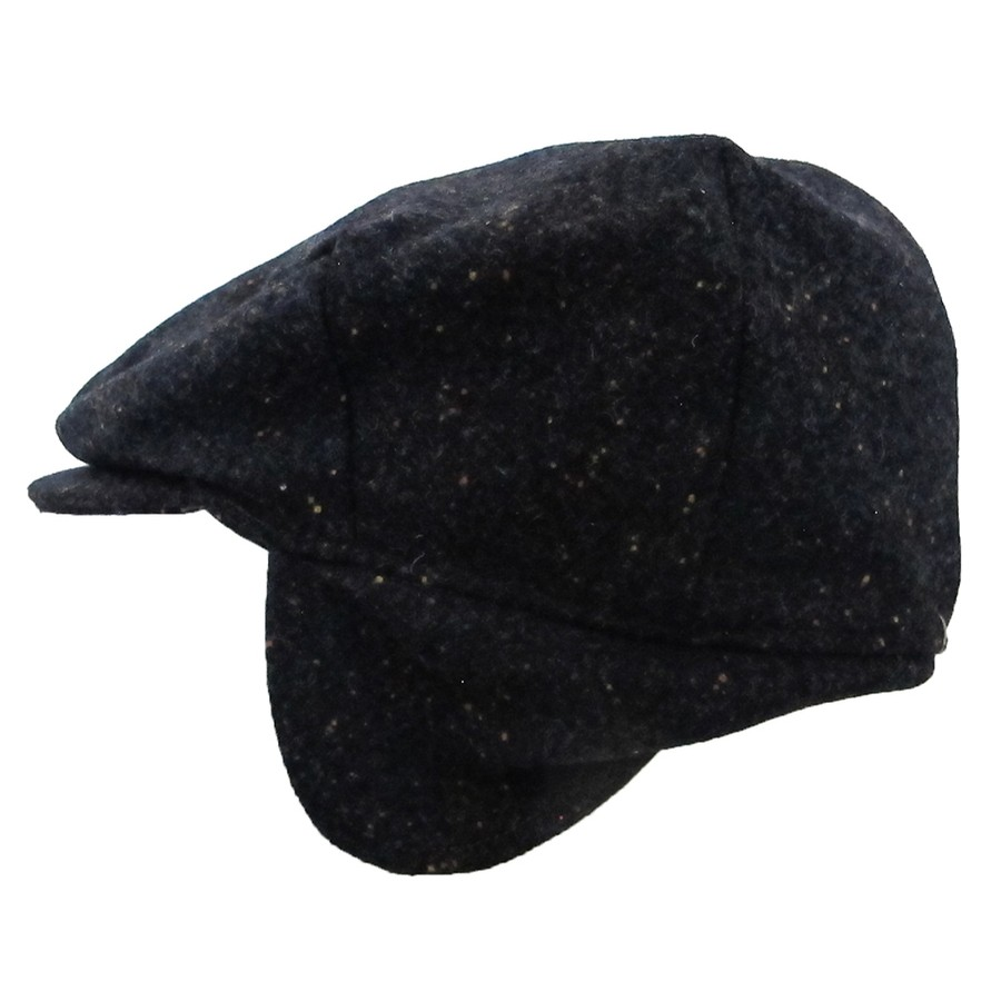 Dark Blue Ear Flap Irish Cap