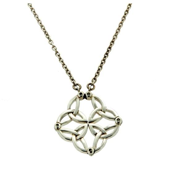 Celtic Trinity Diamond Open and Closed Pendant