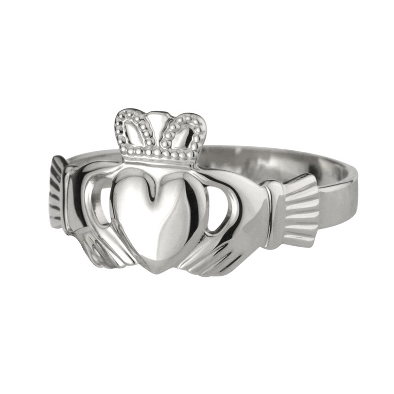 Sterling Silver Extra Heavy Claddagh