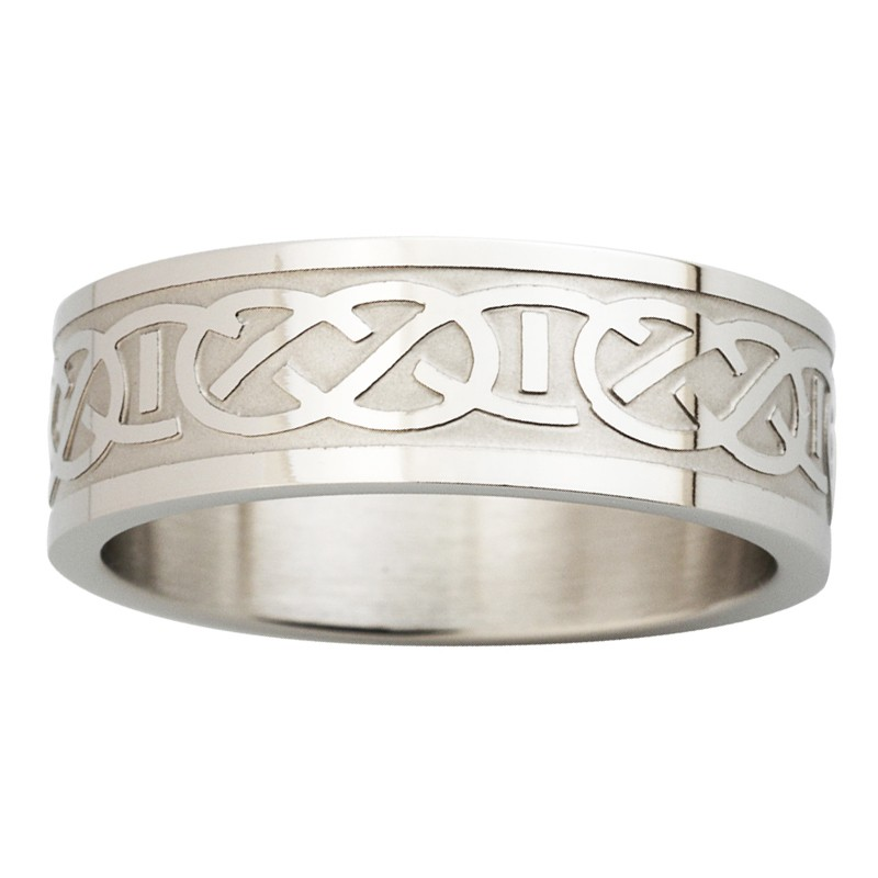 Solvar Jewelry Steel Engraved Celtic Knot Ring