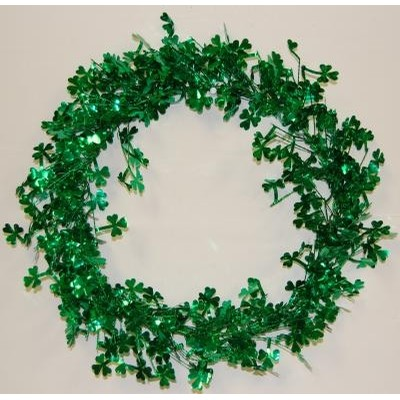 Shamrock St. Patricks Day Tinsel Garland