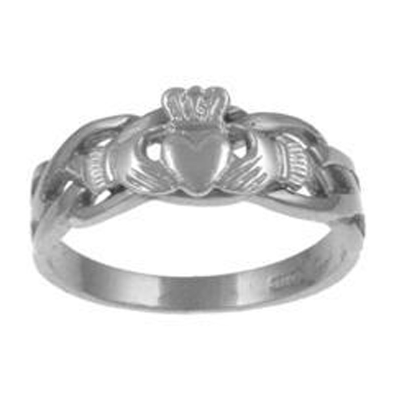 Facet Jewelry Sterling Silver Claddagh Celtic Ring