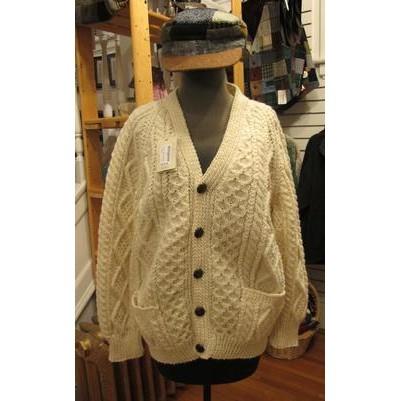 Magee Clothing Aran V Neck Cardigan