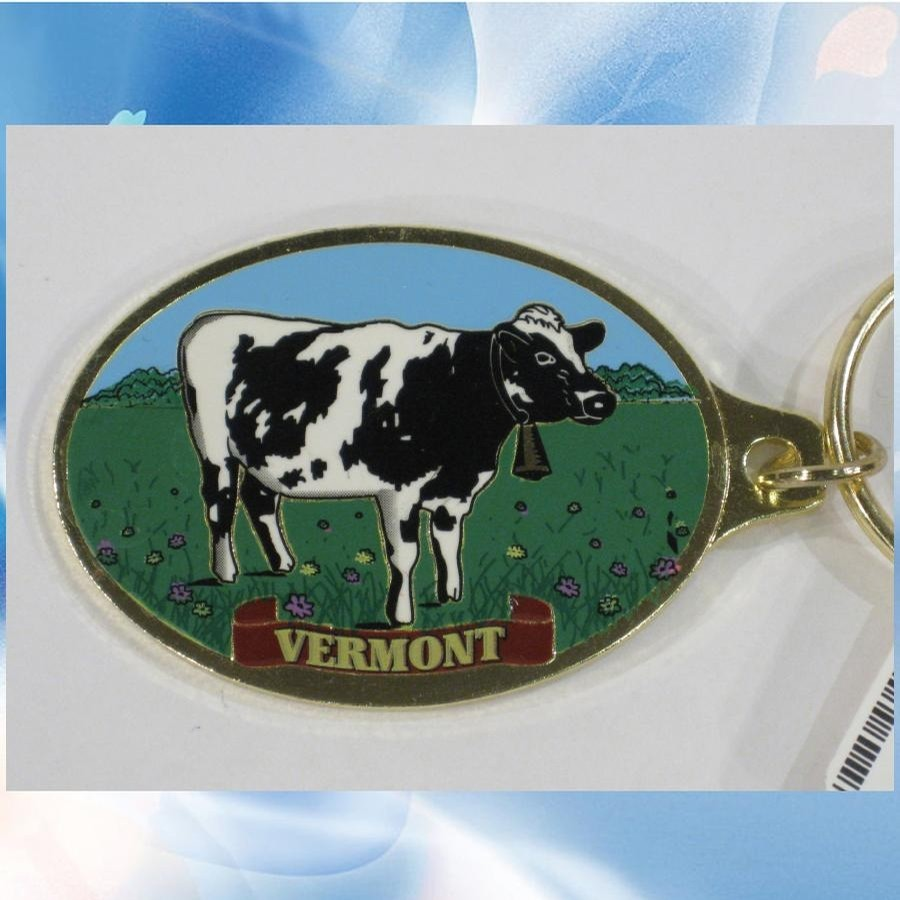 Cow Gold Colorfill Keychain
