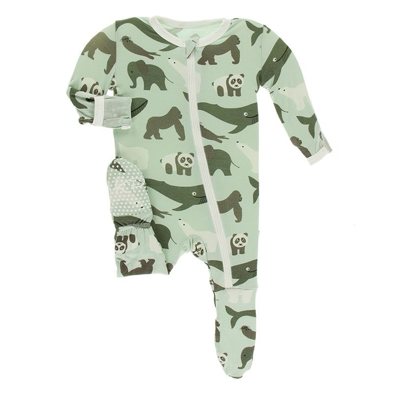 Zoology - Print Footie with Zipper