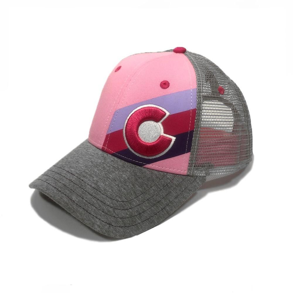 Kids Incline Colorado Trucker Hat - Pink Fusion