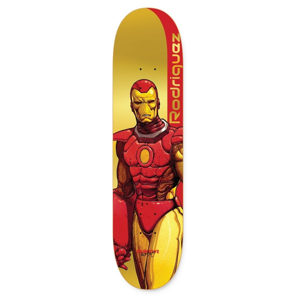 Primitive Skate x Marvel Paul Rodriguez Iron Man Deck