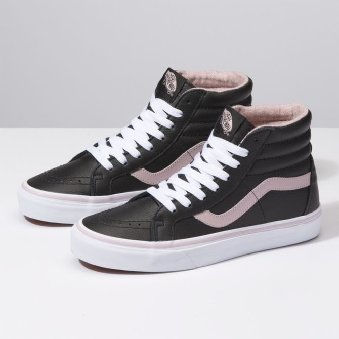 SK8 Hi Reissue Leather (Flannel Violet Ice/True White)