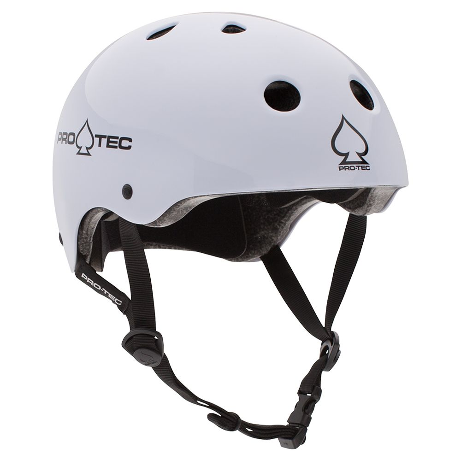 Classic Certified Gloss White Helmet