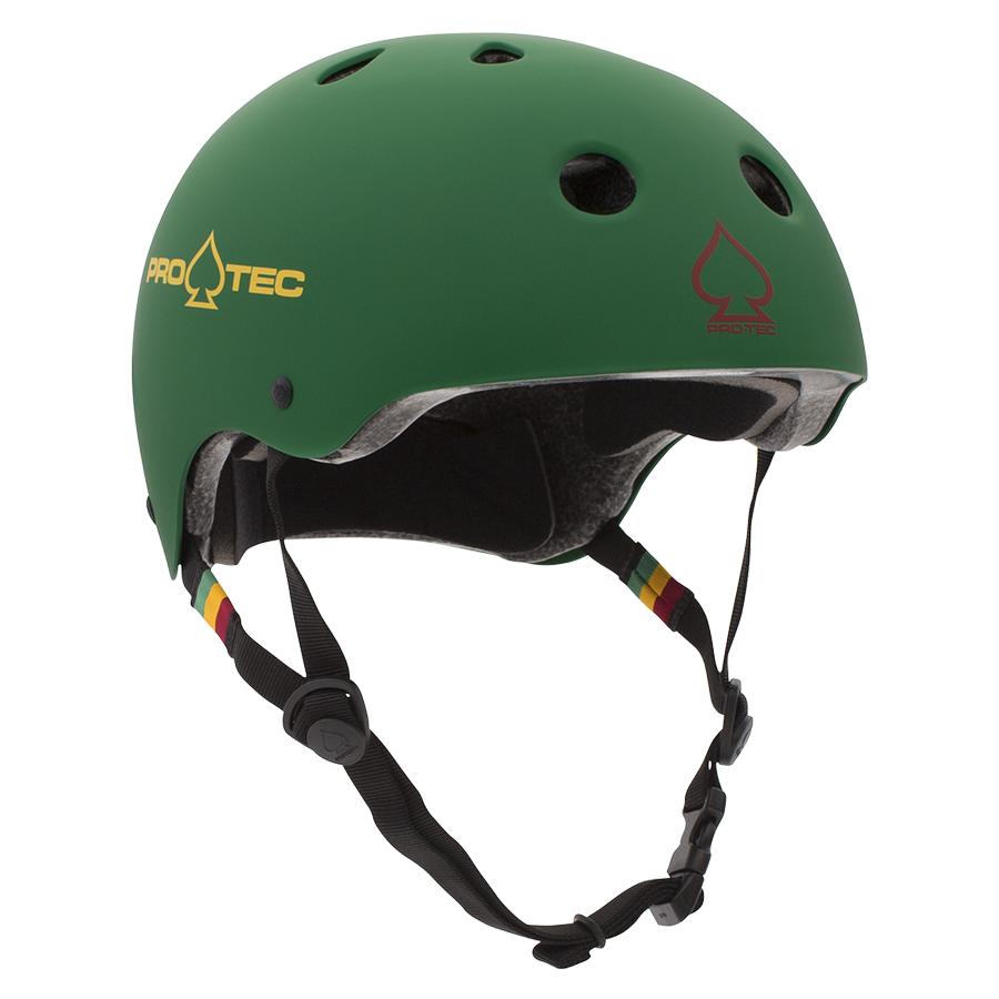 Classic Certified Matte Rasta Green Helmet
