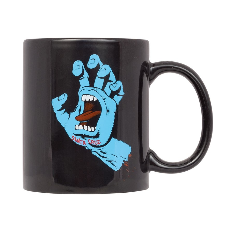 Screaming Hand Black Mug