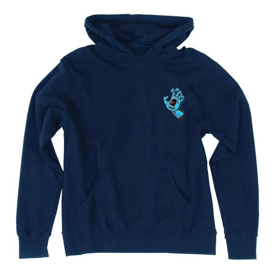 Santa Cruz Screaming Mini Hand Pullover Youth Navy Sweatshirt