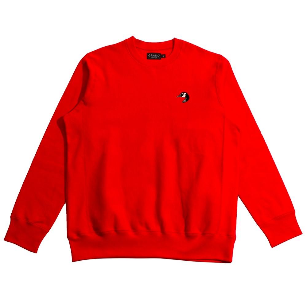 Premium Goose Crew Neck Sweatshirt (Red)