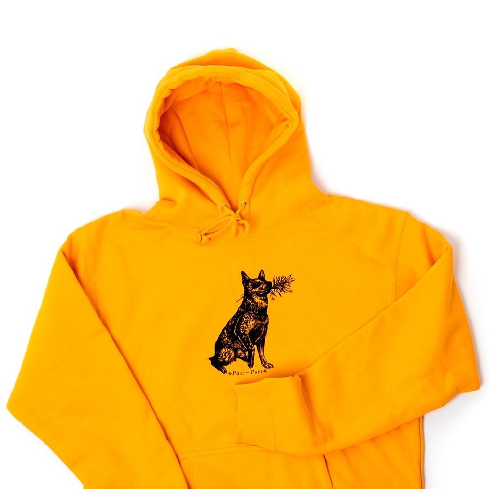 Doggo Hooded Sweatshirt (Gold)