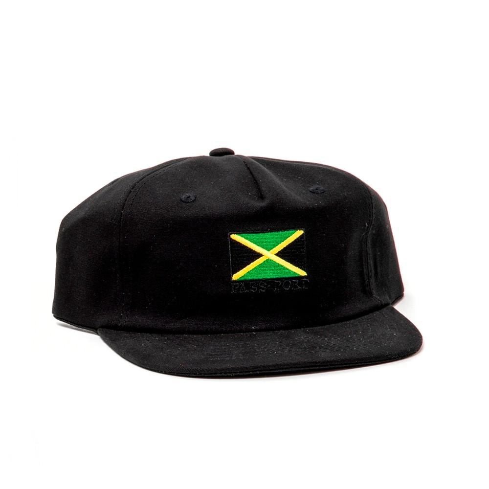 Jamaica 5 Panel Adjustable Strapback (Black)