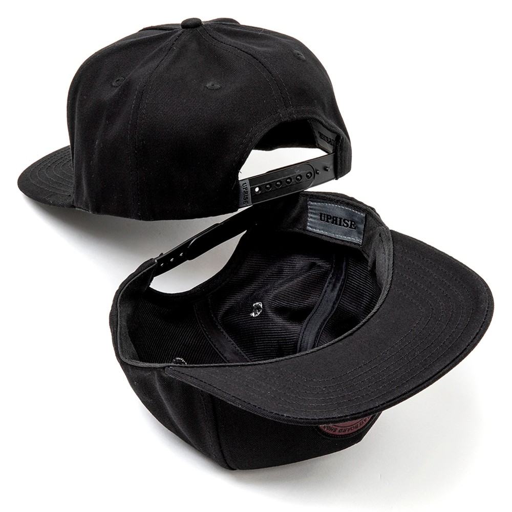 City Seal Snapback (Black / Red-out)