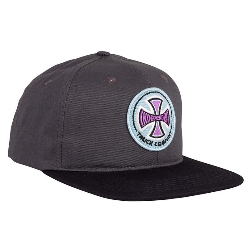 Chroma Snapback Mid Profile Hat (Charcoal/Black)