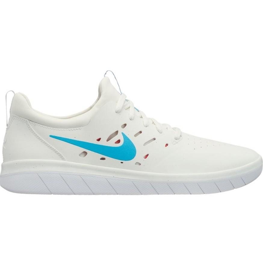 Nike SB Nyjah Free (Summit White/Light Blue Fury-Solar Red)